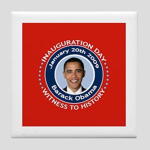 Obama Inauguration Day Tile Coaster