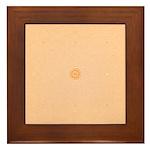 Orange Sand Ripples Framed Tile