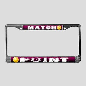 Match Point Tennis License Plate Frame