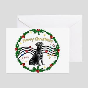 XmasMusic2/Lab (black) Greeting Card