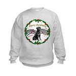 XmasMusic2/Lab (black) Kids Sweatshirt