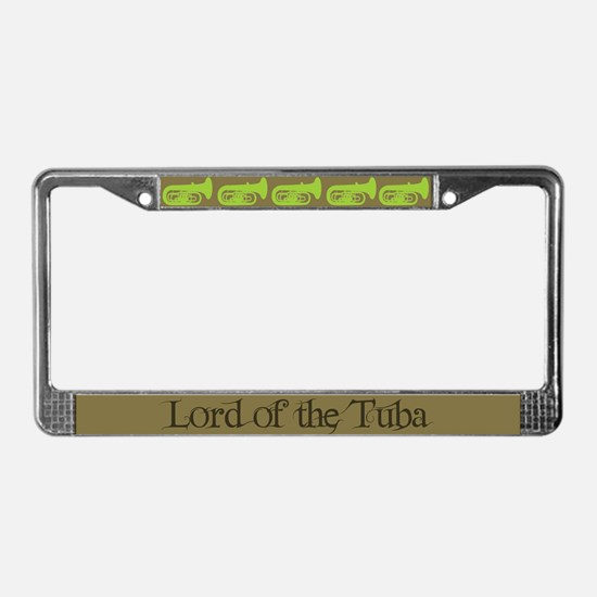 Lord of the Tuba License Plate Frame