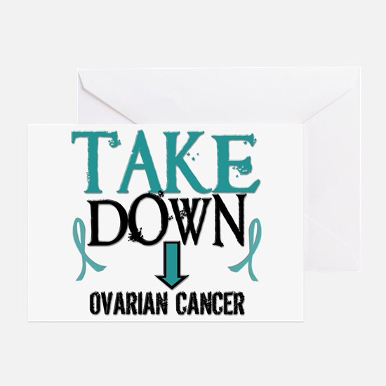 Take Down Ovarian Cancer 2 Greeting Card