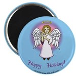 Holiday Angel Blue Magnet