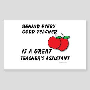 Great Teacher's Assistant Sticker (Rectangle)