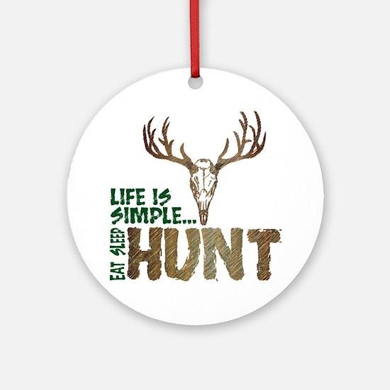 Eat Sleep Hunt Ornament (Round)
