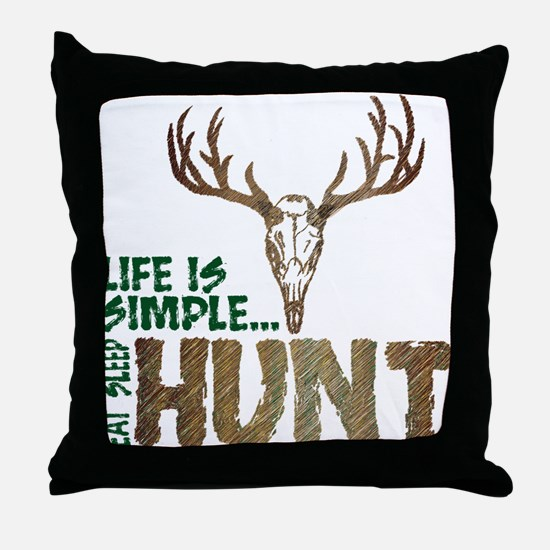 Eat Sleep Hunt Throw Pillow