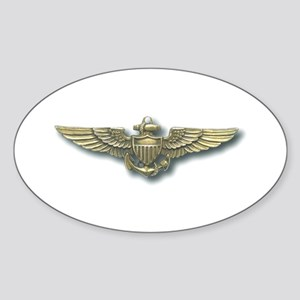 'Naval Aviator Wings' Oval Sticker