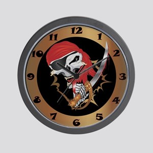 Wicked Pirate Wall Clock