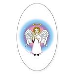 I-Love-You Angel Oval Sticker (10 pk)