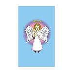 I-Love-You Angel Blue Rectangle Sticker 50 pk)