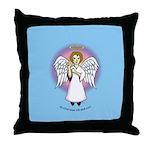 I-Love-You Angel Blue Throw Pillow