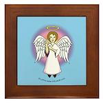 I-Love-You Angel Blue Framed Tile