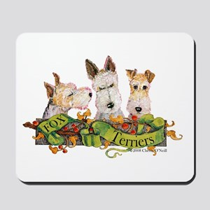 Fox Terrier Trio Mousepad