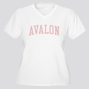 Avalon New Jersey NJ Pink Women's Plus Size V-Neck