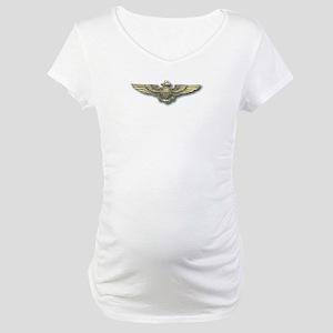 'Naval Aviator Wings' Maternity T-Shirt