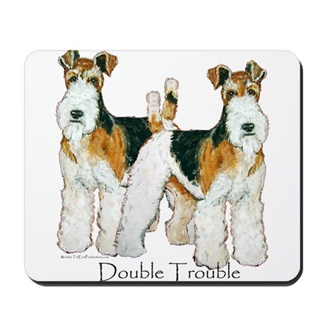 Fox Terrier Trouble! Mousepad