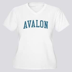 Avalon New Jersey NJ Blue Women's Plus Size V-Neck