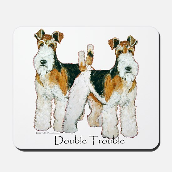 Fox Terrier Trouble! Mousepad
