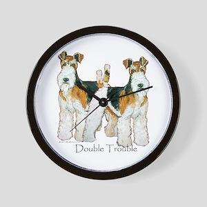 Fox Terrier Trouble! Wall Clock