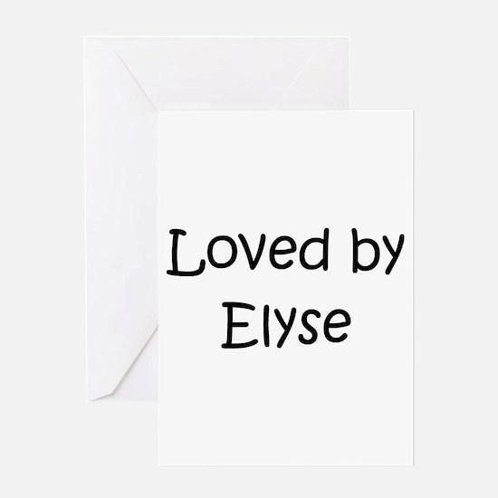 Cute Elyse Greeting Card
