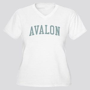 Avalon New Jersey NJ Green Women's Plus Size V-Nec
