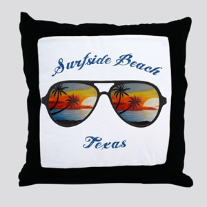 Texas - Surfside Beach Throw Pillow