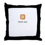 RSS Feed Me Throw Pillow