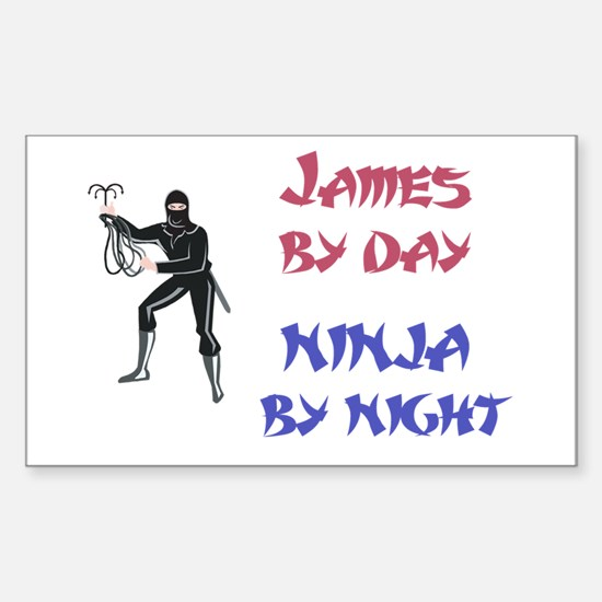 James - Ninja by Night Rectangle Decal