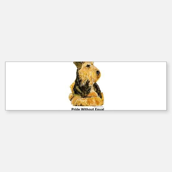 Welsh Terrier Leader of the Pack Bumper Bumper Bumper Sticker