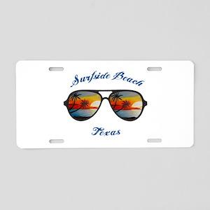 Texas - Surfside Beach Aluminum License Plate