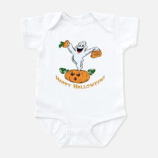 Happy Halloween Pumpkin Ghost Infant Bodysuit