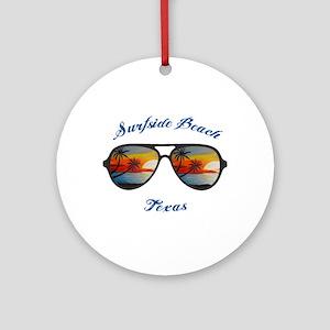 Texas - Surfside Beach Round Ornament