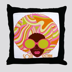 Soul Sistah Brown Throw Pillow
