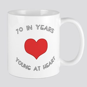 70 Young At Heart Birthday Mug