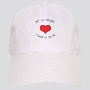 70 Young At Heart Birthday Cap