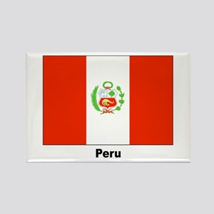 Peru Peruvian Flag Rectangle Magnet