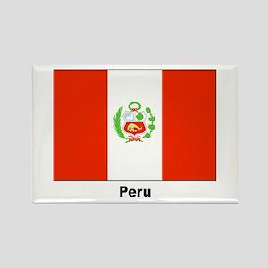 Peru Peruvian Flag Rectangle Magnet