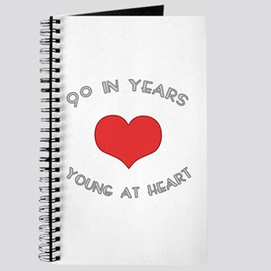 90 Young At Heart Birthday Journal