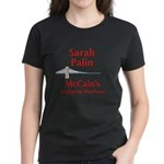 """McCain's Bridge"" Women's Black T-Shirt"