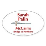 """McCain's Bridge"" Oval Sticker (10 pk)"