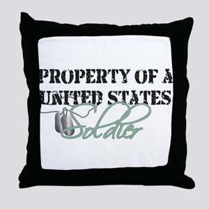 Property of a US Soldier Throw Pillow