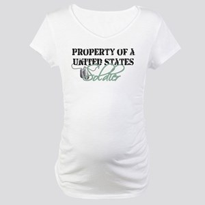 Property of a US Soldier Maternity T-Shirt