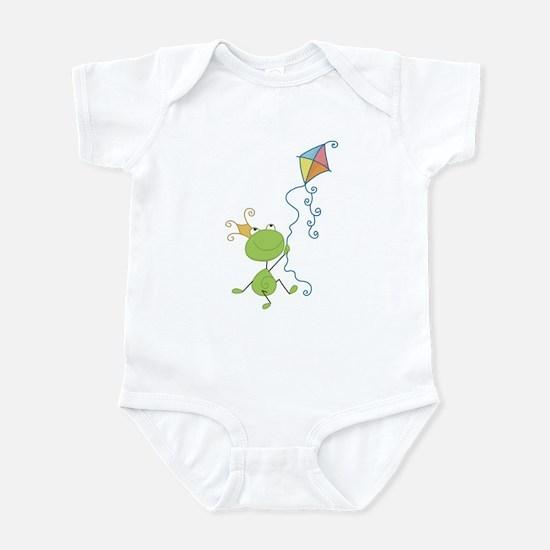 Frog Kite Flying Infant Bodysuit