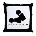 Sex @ My Place Throw Pillow