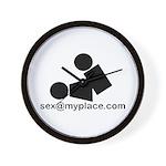 Sex @ My Place Wall Clock