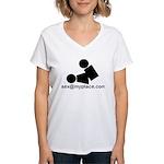 Sex @ My Place Women's V-Neck T-Shirt