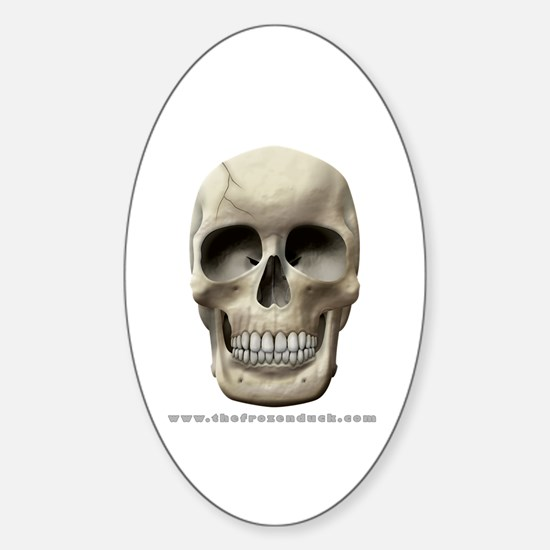 Cracked Skull Oval Decal
