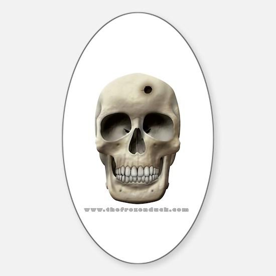Skull & Bullet Hole Oval Decal