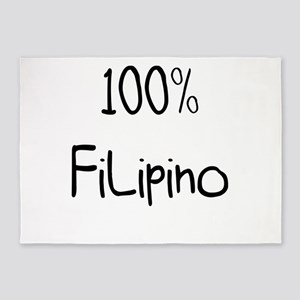 100% Filipino Very Funny Gift Ide 5'x7'Area Rug